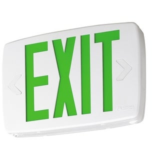 Lithonia Lighting White/Green Plastic LED Emergency Exit Sign