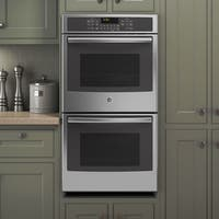 GE 27-inch Stainless Steel Built-in Double Convection Wall Oven