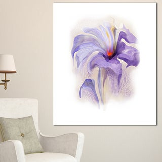 Designart 'Purple Flower Watercolor Illustration' Large Animal Canvas Wall Art Print