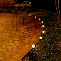 Solar Plastic String White Lights