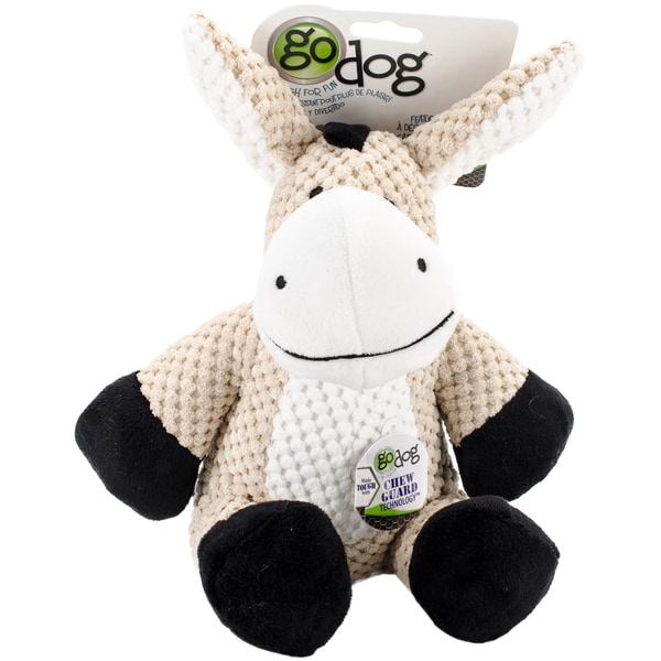 Dog Chewed Up Rug: Shop GoDog Checkers Donkey With Chew Guard Large