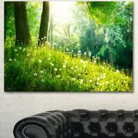 Designart 'Beautiful Green Grass and Trees' Large Landscape Art Canvas Print