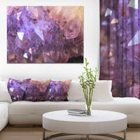 Designart 'Purple White Natural Amethyst Geode' Large Abstract Canvas Artwork