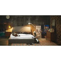 Shop Queen Size Stone Platform Bed And Headboard Kit