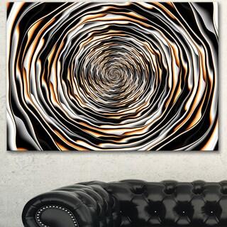 Designart 'Fractal Rotating Abstract Design' Large Abstract Canvas Artwork