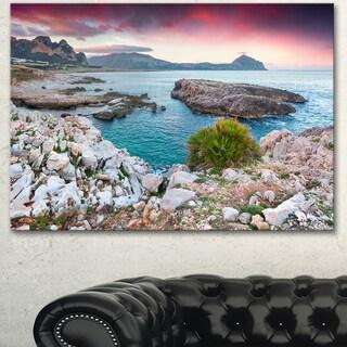 Designart 'Nature Reserve Monte Cofano' Landscape Artwork Canvas Print