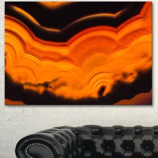 Designart 'Agate Macro Orange' Abstract Canvas Wall Art Print