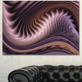 Designart 'Purple Waves Fractal Wall Art ' Abstract Canvas Wall Art Print