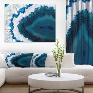 Designart 'Blue Brazilian Geode' Abstract Canvas Wall Art Print