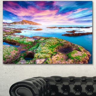 Designart 'Sunset from the Giallonardo Beach' Landscape Artwork Canvas Print