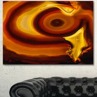 Designart 'Agate Geode Slice Macro' Abstract Canvas Wall Art Print
