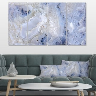 Agate Stone Background' Abstract Canvas Wall Art Print