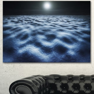 Designart 'Night With Fool Moon in Sky' Landscape Wall Art Print Canvas