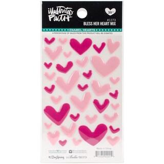 Illustrated Faith Basics Enamel Heart Stickers