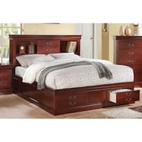 Cherry Acme Furniture Louis Philippe III Bed with Storage