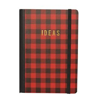 Red Checkered 'Ideas' 120-page Journal Notebook