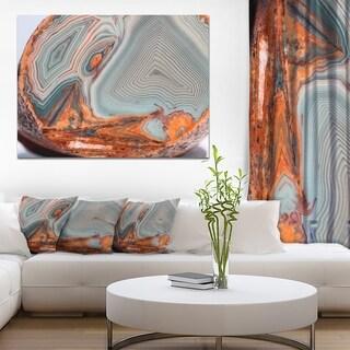 Beautiful Lake Superior Agate' Modern Abstract Canvas Print - Grey