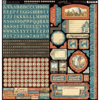 "Cityscape Cardstock Stickers 12""X12"""