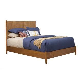 alpine flynn mid century modern panel bed - Mid Century Modern Bed Frame