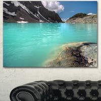 Designart 'Crystal Clear Mountain Lake' Landscape Artwork Canvas Print