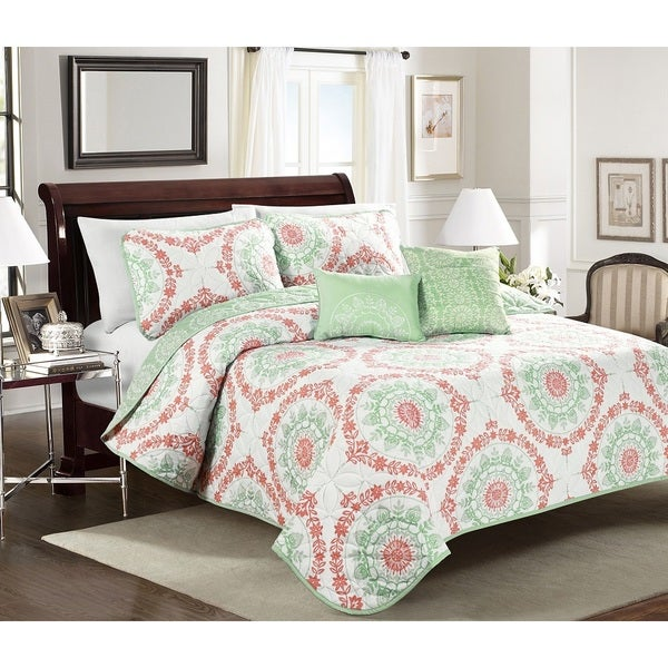 Blissful Living Elyssa 4 Or 5 Piece Quilt Set