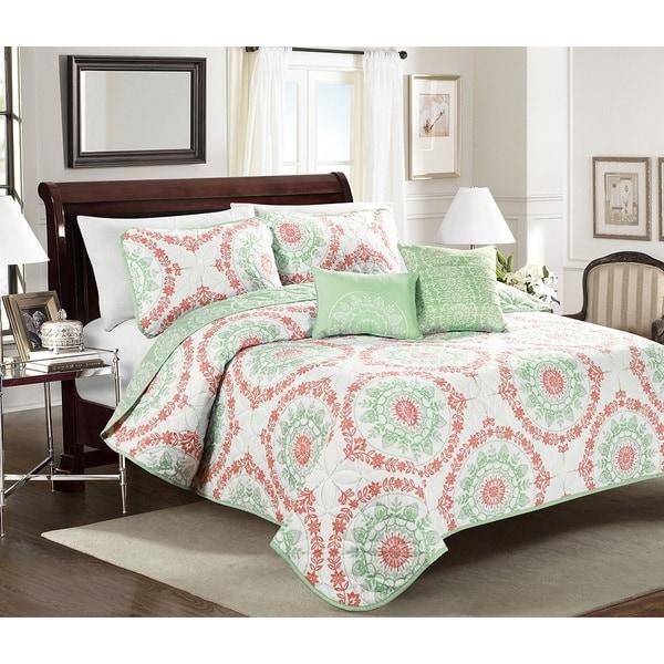 Blissful Living Elyssa 4 or 5 Piece Quilt Set