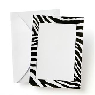 Gartner Studios Zebra Print Black and White Custom Invitations (Pack of 10)