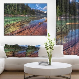 Beautiful View of Mountain Lake' Extra Large Landscape Art Canvas