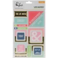 """Life Noted Epoxy Stickers 4""""X6"""""""