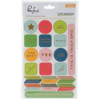 """Life Noted Chipboard Stickers 4""""X6"""""""