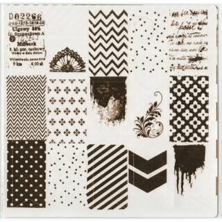 "Prima Marketing Foil Washi Stickers 6""X6"" Sheets 3/Pkg"