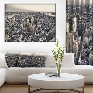 Designart 'Architecture and Colors of New York' Modern Cityscape Canvas Artwork