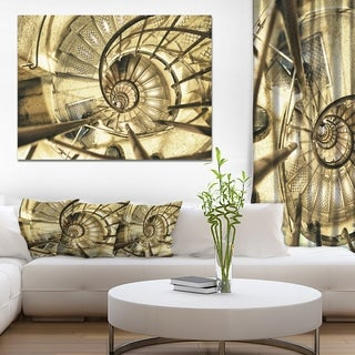 Architectural Detail of Paris in Winter' Modern Abstract Canvas Print