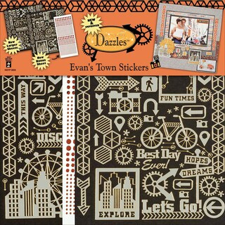 Dazzles Stickers 2/Pkg