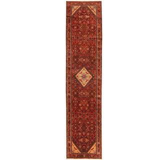 Herat Oriental Persian Hand-knotted Tribal Hamadan Wool Runner (2'8 x 11'10)
