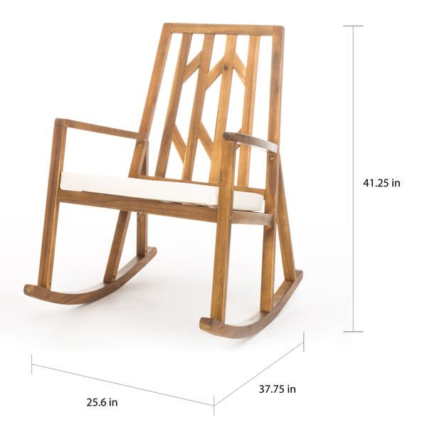Tremendous Shop Christopher Knight Home Nuna Outdoor Wood Rocking Chair Home Interior And Landscaping Palasignezvosmurscom