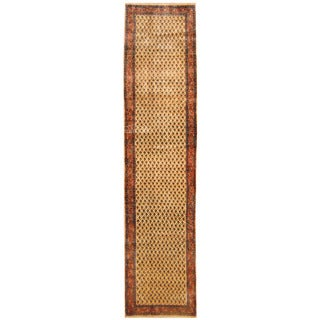 Herat Oriental Persian Hand-knotted Tribal Hamadan Wool Runner (2'8 x 11'8)