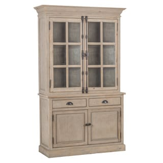 Kosas Home Wilson Antique White Reclaimed Pine 2 Door Hutch