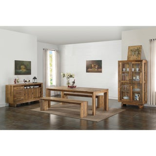 Kosas Home Asheville Natural Distressed Pine 84-inch Dining Table