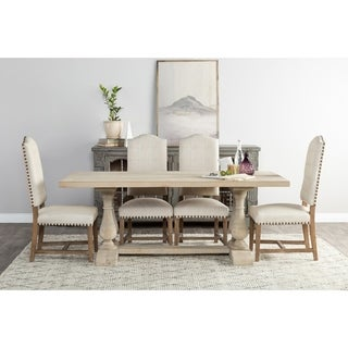 Kosas Home Wilson Antique White Reclaimed Pine 78-inch Dining Table