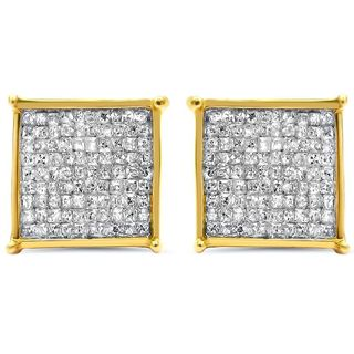 Noori 14k Gold 1ct TDW Princess-cut Diamond Earrings (I-J, I2-I3)