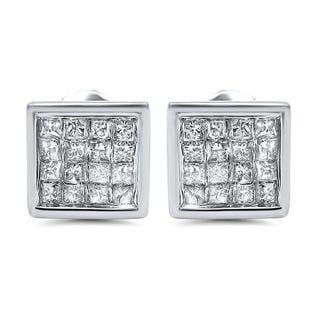 Noori 14k Gold 5/8ct TDW Princess-cut Diamond Earrings