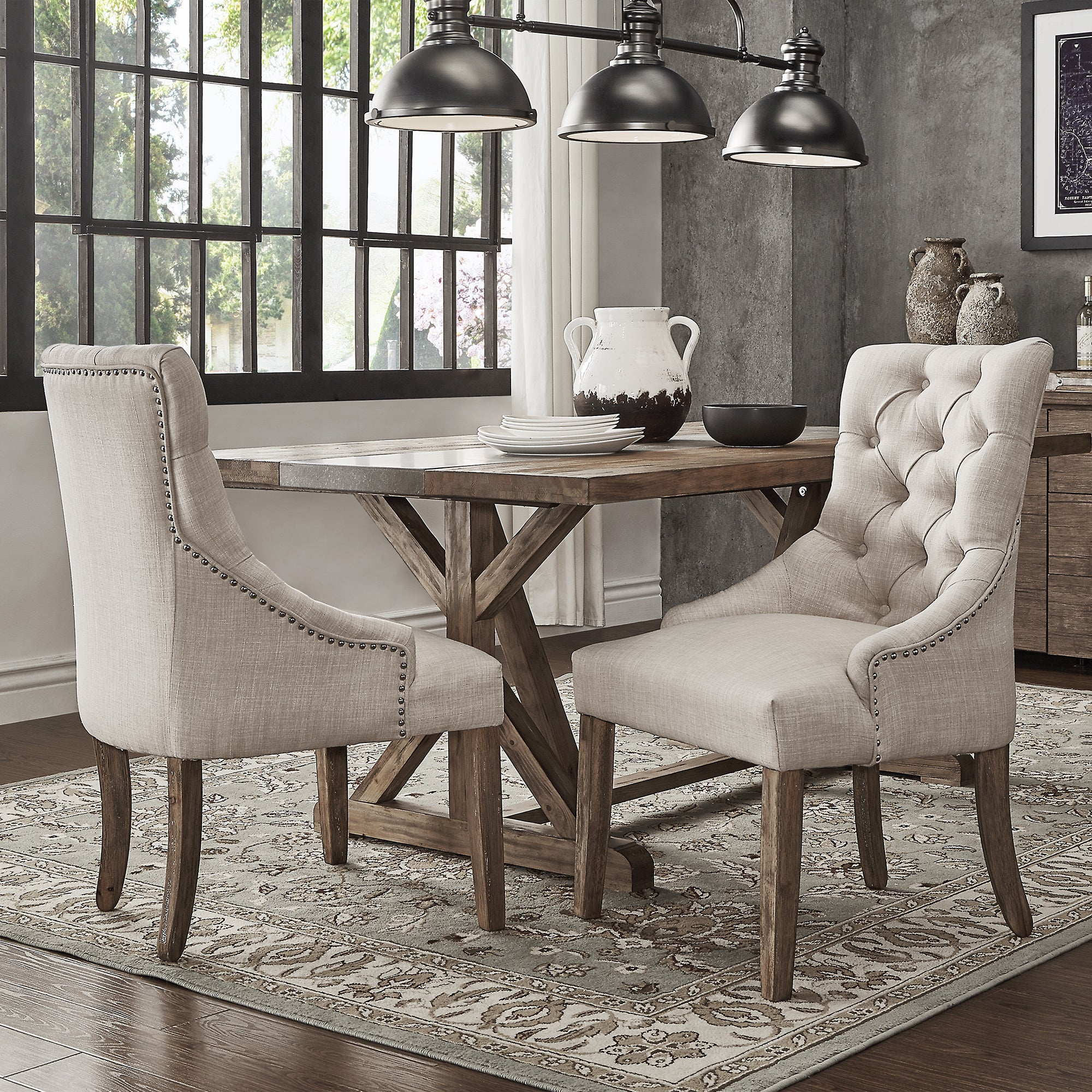 Benchwright Button Tufts Wingback Hostess Chairs (Set Of 2) By INSPIRE Q  Artisan (