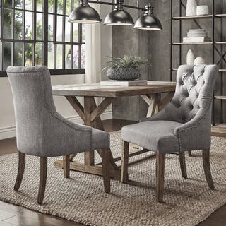 Benchwright Button Tufts Wingback Hostess Chairs Set Of 2 By INSPIRE Q Artisan