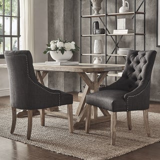 Benchwright Button Tufts Wingback Hostess Chairs (Set of 2) by iNSPIRE Q Artisan (3 options available)