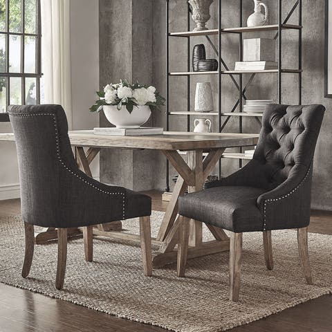 Benchwright On Tufts Wingback Hostess Chairs Set Of 2 By Inspire Q
