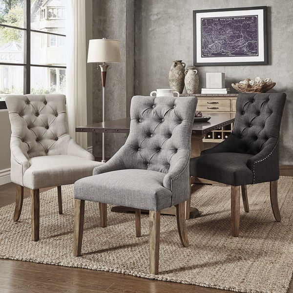 Bon Benchwright Button Tufts Wingback Hostess Chairs (Set Of 2) By INSPIRE Q  Artisan