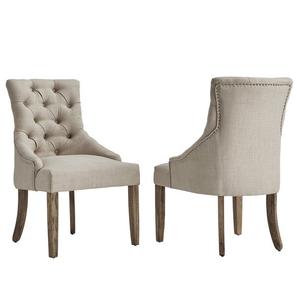 Benchwright Button Tufts Wingback Hostess Chairs Set Of 2