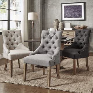 benchwright button tufts wingback hostess chairs set of 2 by inspire q artisan - Living Room Sets For Cheap