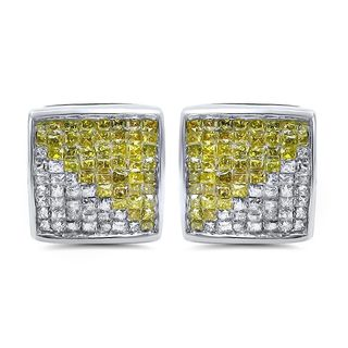 Noori 14k Gold 3/4ct TDW Canary Princess Diamond Earrings (I-J, I2-I3)